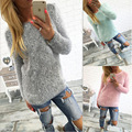 2017 Зимой свитер женщин сексуальный длинным рукавом kawaii потяните femme шею простой пуловер женщин свитера и пуловеры сплошной цвет