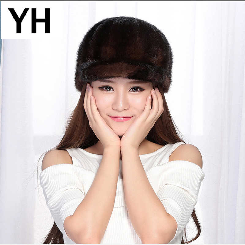 Detail Feedback Questions about 2018 New Casual Real Mink Fur Hat Women  100% Natural Real Mink Fur Knight Cap Lady Winter Lovely Adjustable Size  Mink Fur ... 8544192541f
