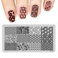 Nail Art Templates 3D Luxury Grid Mosaic Heart Pattern Design Lot Stamp Polish Stainless DIY Nail Stamping Plates XYP15
