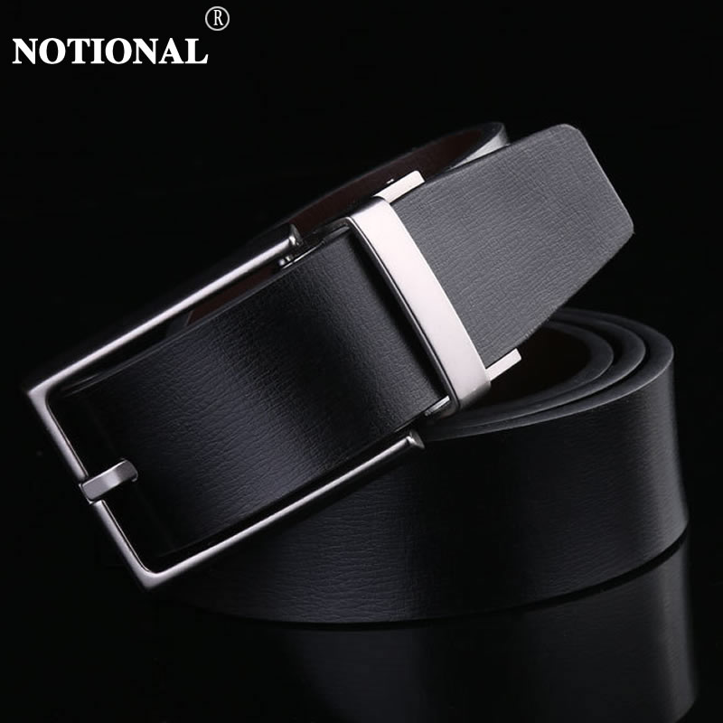 men   belt   leather   belt   men cow genuine leather luxury strap male   belts   for mens new fashion classic vintage pin buckle NX4017A
