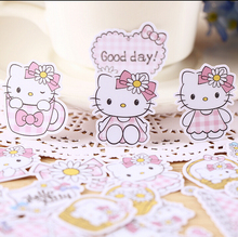 32pcs Creative kawaii self-made love hello kitty girl stickers beautiful stickers /decorative sticker /DIY craft photo albums