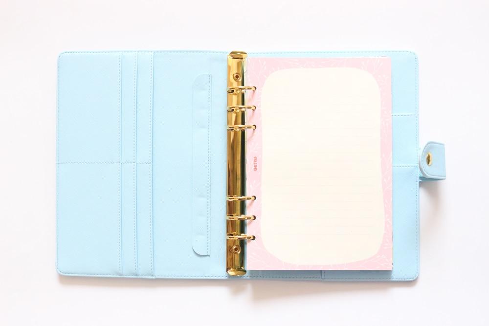 espiral notebooks artigos de papelaria, menina fina