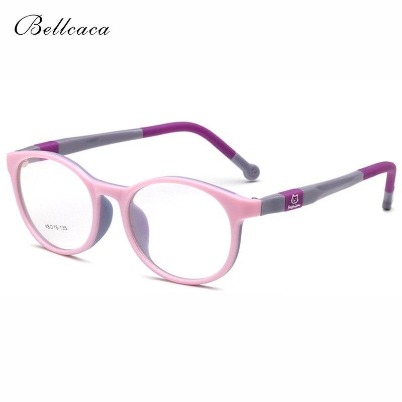 e2b480bfbae Bellcaca Children Optical Eyeglasses Frame Boys Girls Student Myopia  Computer Glasses Spectacle Frame For Kids Clear