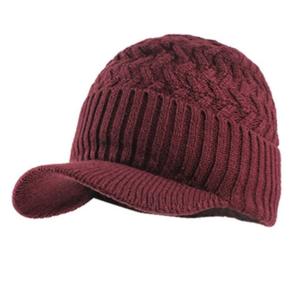 Fashion  New Knitted Hat Mens Winter Hats for Solid Casual Winter Mens Hat and Scarf Warm Knit Cap oct24