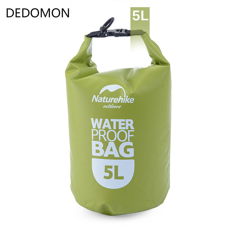 Naturehike Outdoor PVC Waterproof Dry Sack Storage Bag Rafting Sports Kayaking Canoeing Swimming Bag 5L Travel Kits