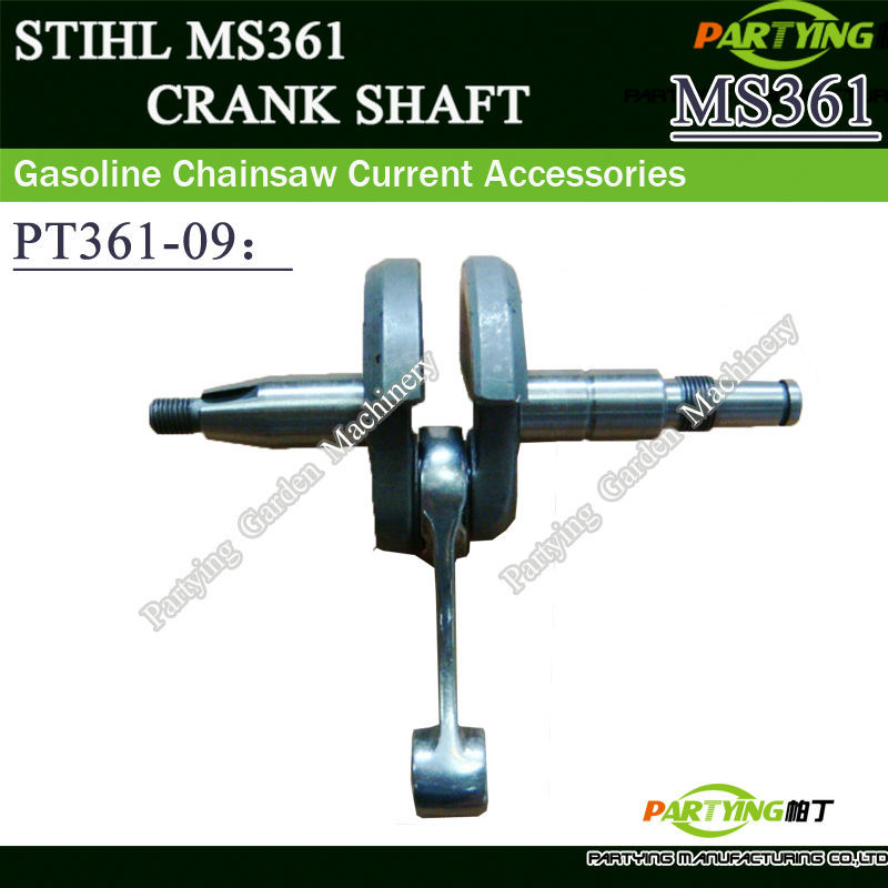 PARTYING OEM CHAINSAW REPLACEMENT PARTS CRANKSHAFT ASSEMBLY FOR MS341 MS361 CHAINSAWS CRANK SHAFT 1135-030-0400 chainsaw crank crankshaft kom62 6200 62cc chainsaws metal parts black free shipping in stroke free shipping pt62 09