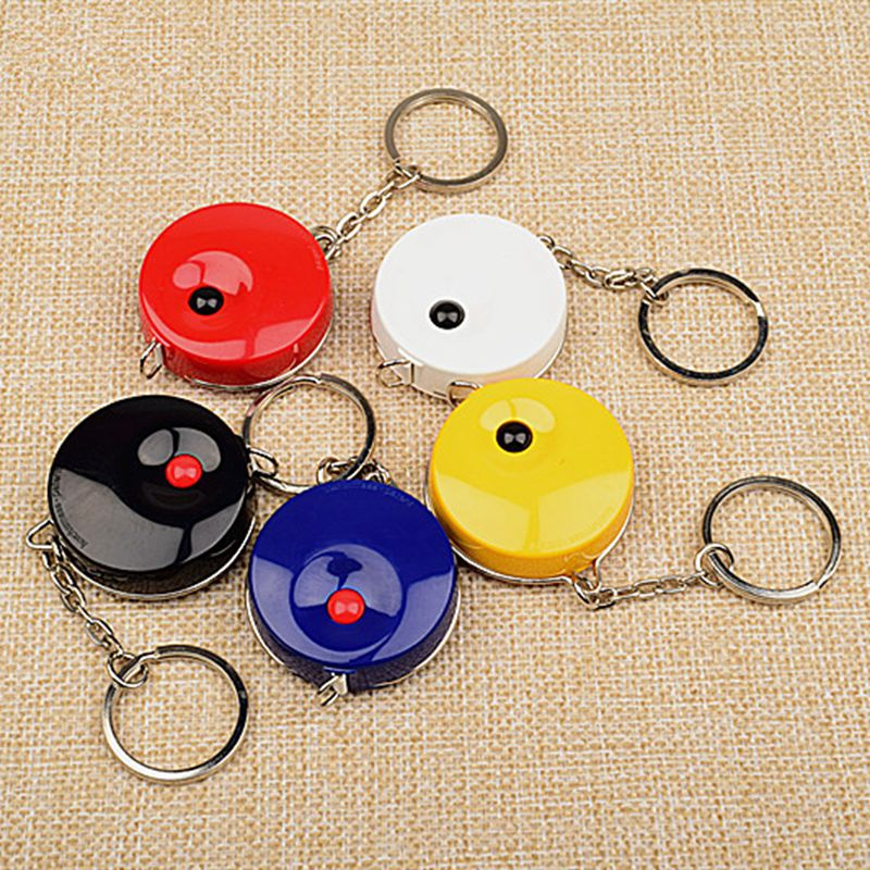 For Hoechstmass Mini Tape Measure With Key Chain Plastic Portable 1.5m Ruler  Draw Tool