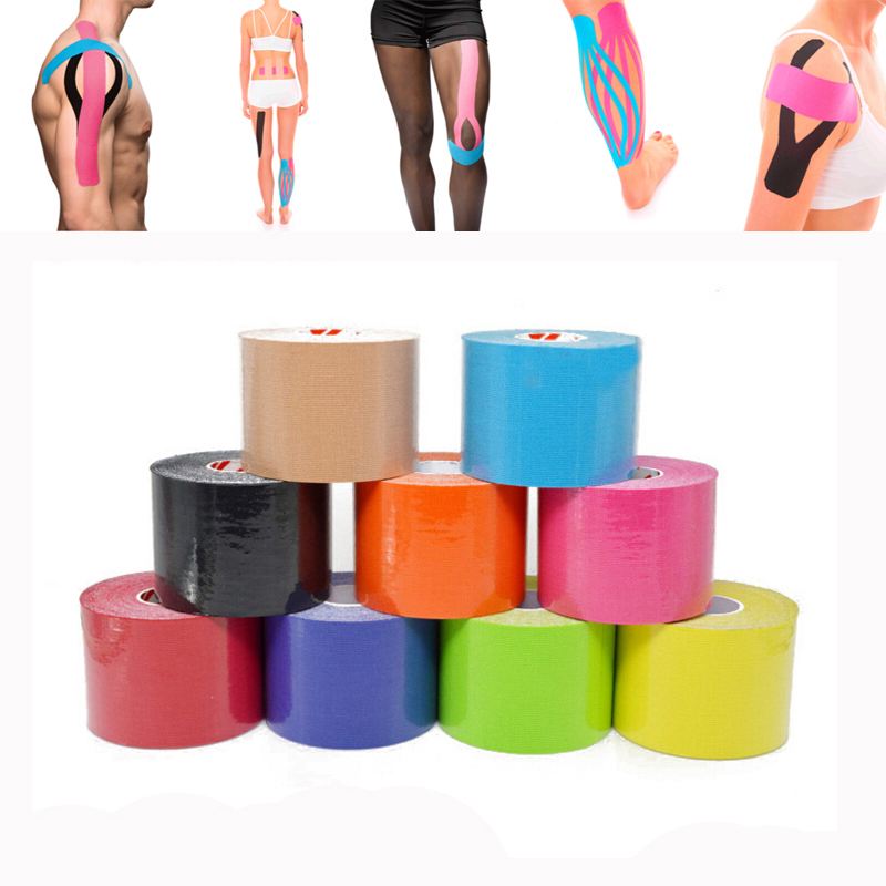 5cm x 5m Elastic Adhesive Muscle Bandage Strain Injury Support Muscle stickers Sports Kinesiology Taping Kinesiology Roll Cotton
