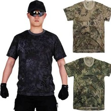 New Summer Outdoors Sport Military Tactical T Shirt Men Breathable Hunting Camouflage Python Camp Tees Mesh Clothes T-shirts