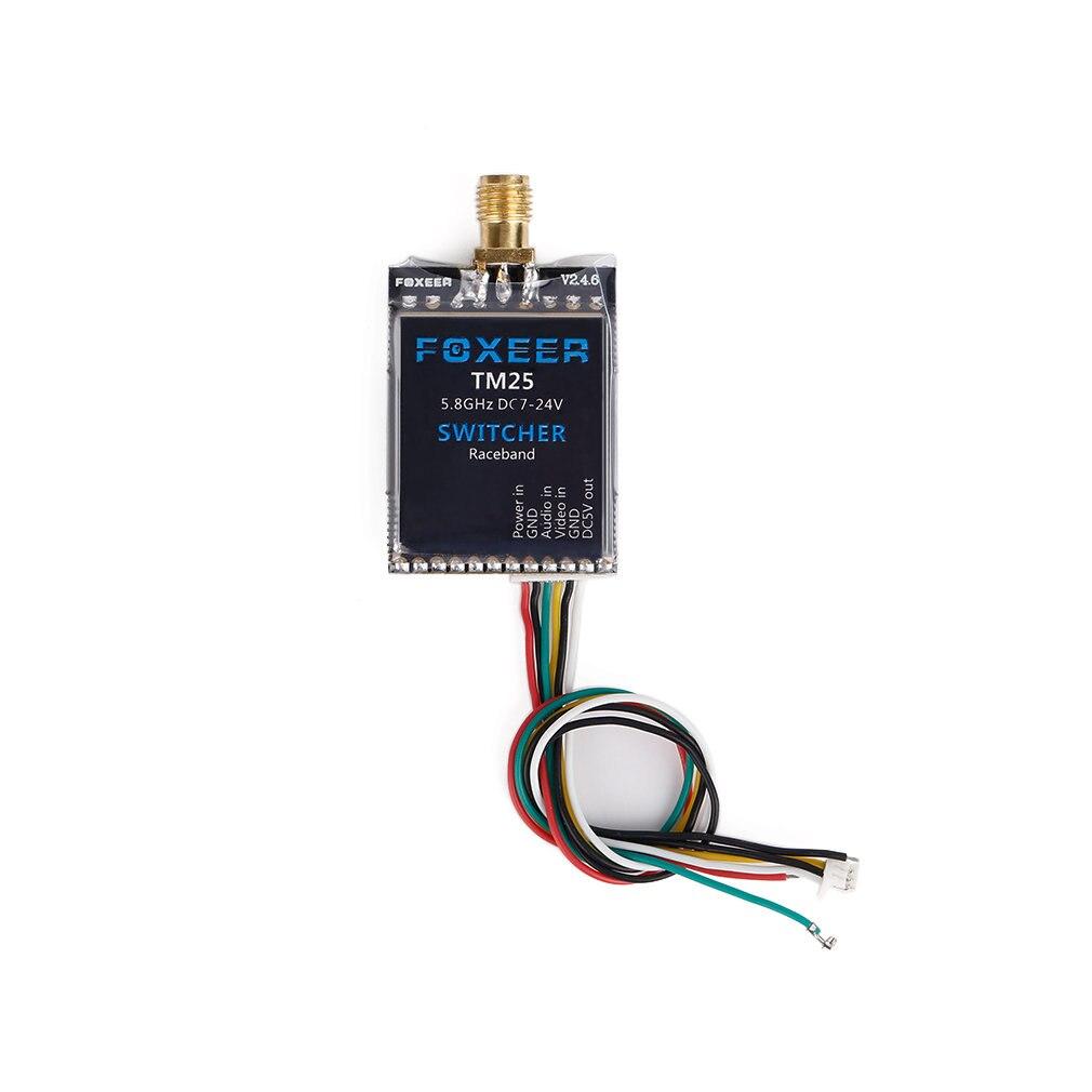 Foxeer TM25 5 8G 40CH 25 200 600mW Adjustable Video Transmitter Switcher