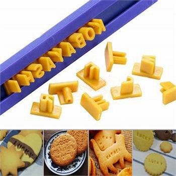 Litera alfabetu + numer + Symbol Cookie Sugarcraft herbatniki żywność znaczki stemple zestaw narzędzie do majsterkowania kuchnia Mold Cookie GHMY