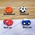 Carro vermelho/Preto de futebol estilo Porta Do Armário Puxadores Crianças Quarto Gaveta Puxa Móveis De Borracha Macia