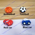 Red car / Black football style Cabinet Door Knobs Children Room Drawer Soft Rubber Furniture Pulls