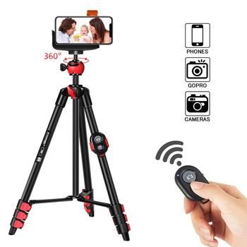 ZOMEi Phone Tripod, Cell Phone Tripod Camera Tripod with Bluetooth Remote Cellphone Holder Mount 360 Panorama Ball Head