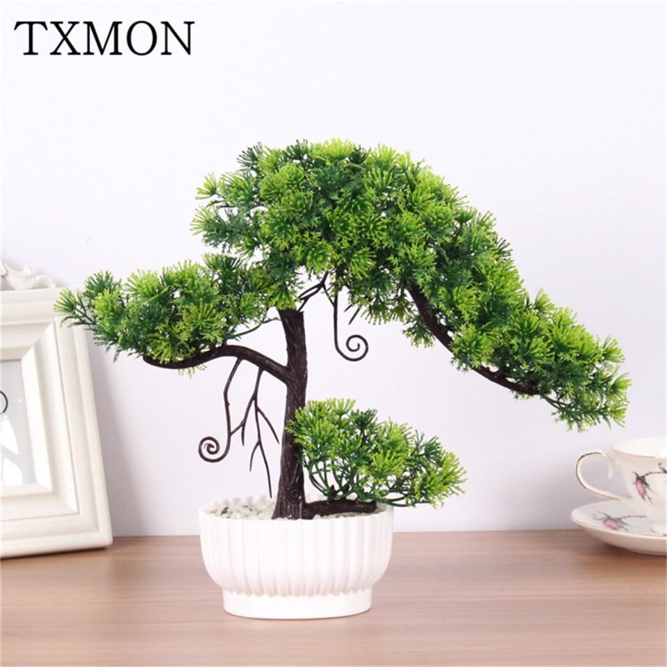 Pine Artificial Bonsai Fake Living Room Decoration Plant Plastic Useful