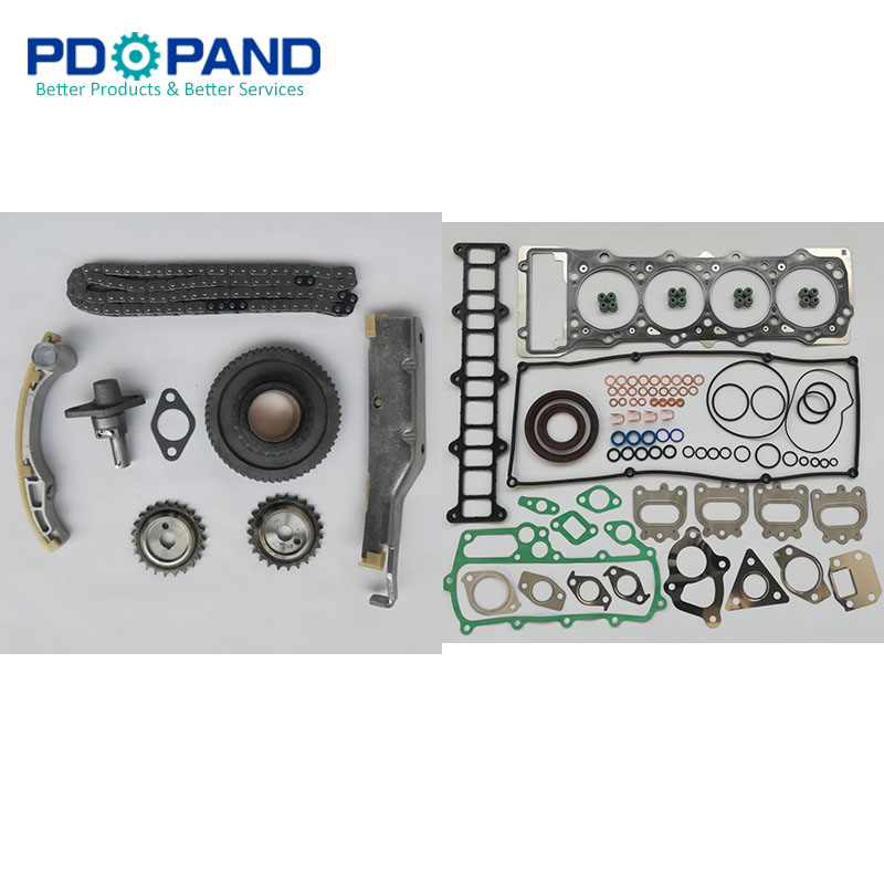 4M41 4M41T Timing Chain Kit and Complete Gasket Set for Mitsubishi Shogun III/ Pajero V68/V78 V68W V78W 3.2L Mitsubishi Pajero