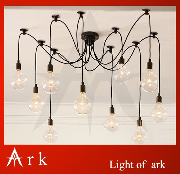 ARK LIGHT EMS FREE SHIPPING Contemporary Edison Chandelier Light Pendant Lamp Ceiling Hanging - 10 Bulbs Fixture free shipping free shipping ems pendpant light leaves danced in the air the bedroom light ceiling lamp ceiling lights zzp72