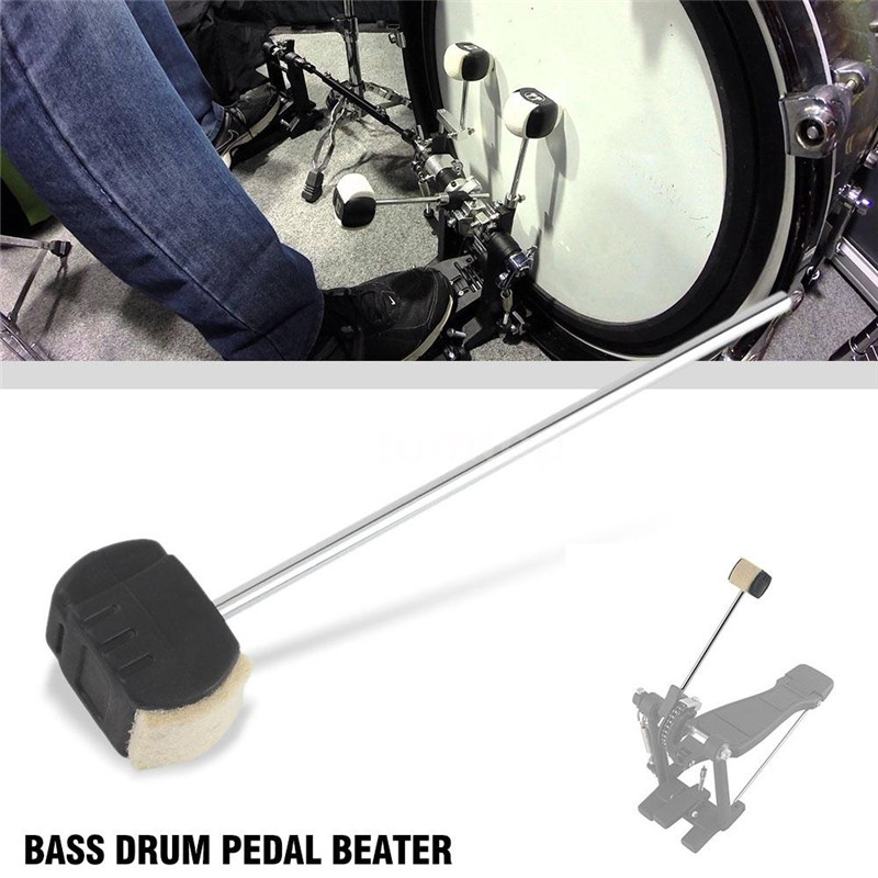 Bass Drum Pedal Beater Wool Felt Stainless Steel Handle Percussion Beaters Instrument Accessories