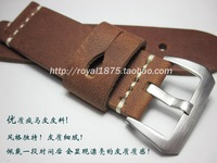 New design high quality Handmade vintage watchbands watch accessories Genuine Leather watch band 26mm Universal watch straps