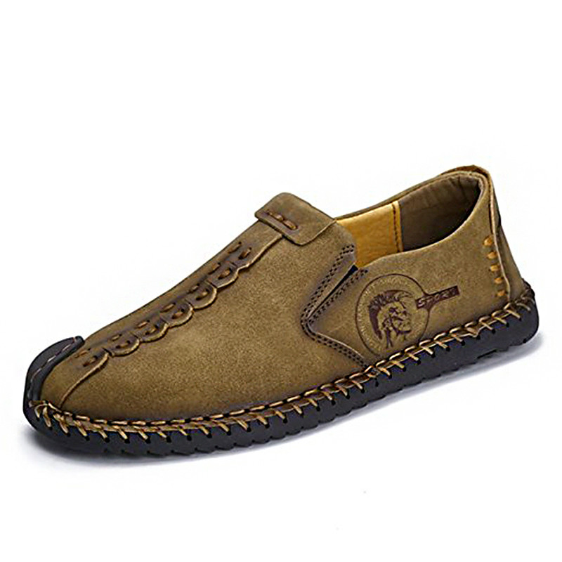 Breathable Summer Shoes Men Casual Sneakers Leather Loafers Slip On Flat Oxford Men Boat Shoe Lightweight