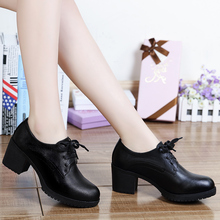 Fashion Woman Shoes Platform Casual Brand Hot Sale Leather Wedge Sneakers Black Spring Autumn Ladies Increasing