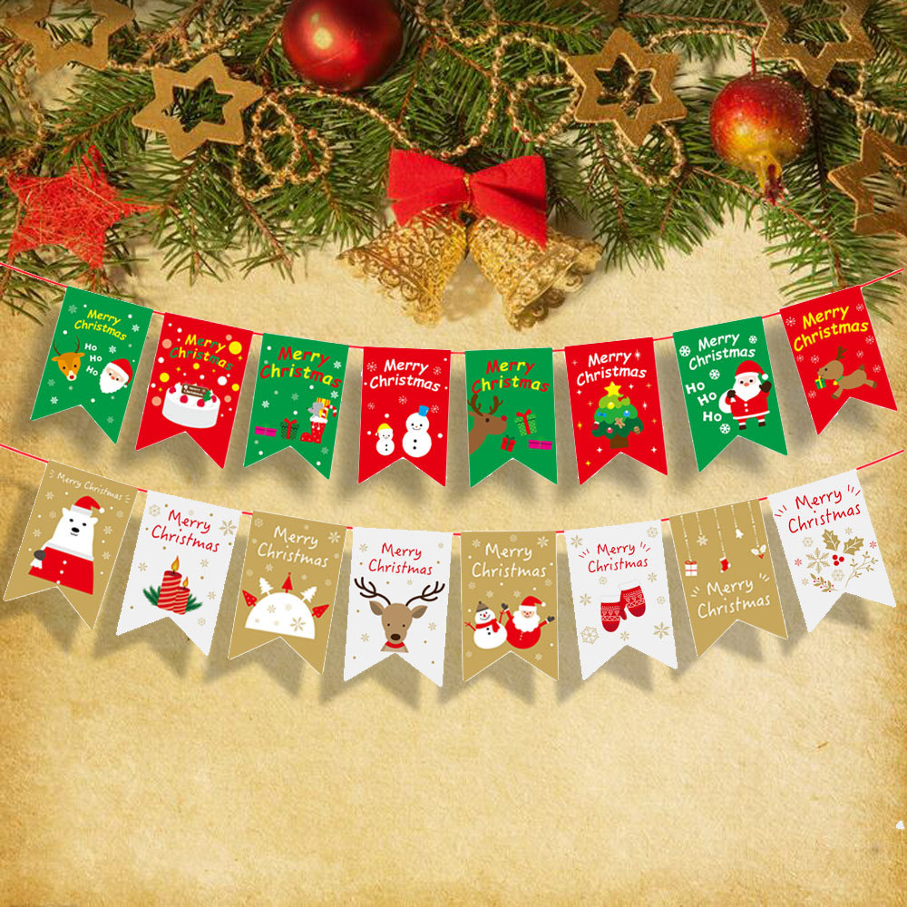 Christmas Banner.Us 2 21 40 Off Diy Christmas Xmas Flags Christmas Banner Christmas Decorations For Home Shop Market Room Decor L101 In Banners Streamers Confetti