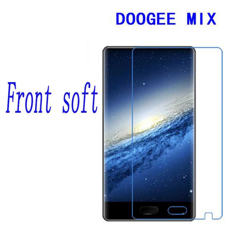2 pcs Kembali + Depan HD Clear Nano ledakan-bukti Premium Tempered Film untuk Doogee Lembut CAMPURAN (TIDAK kaca)