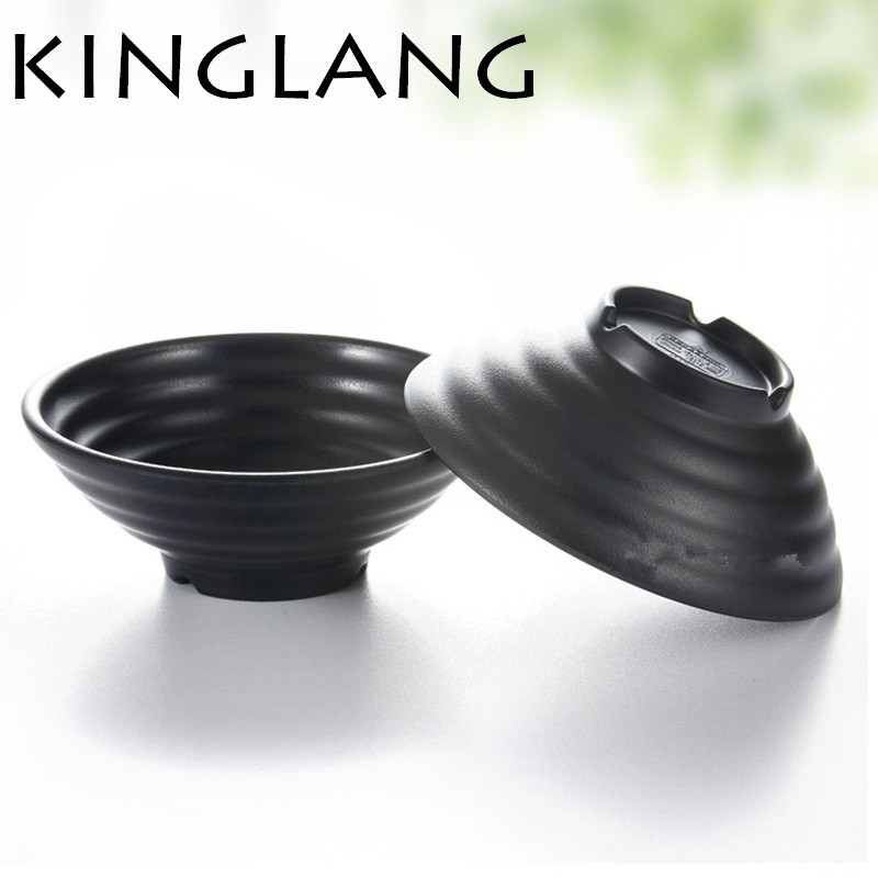 1pc KINGLANG Korean Japanese Restaurant Melamine Ramen Soup Noodles Bowl Dinnerware