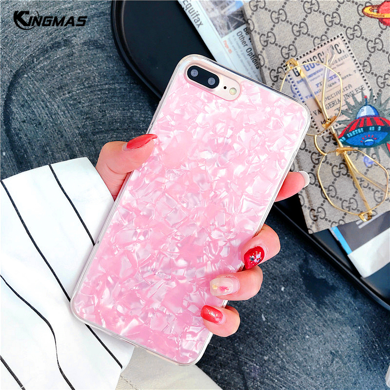 For OPPO R9 R9S R11 R11S Plus R15 dream Acrylic Phone Case instagram Conch style cold temperament cover lovely girl shell coque