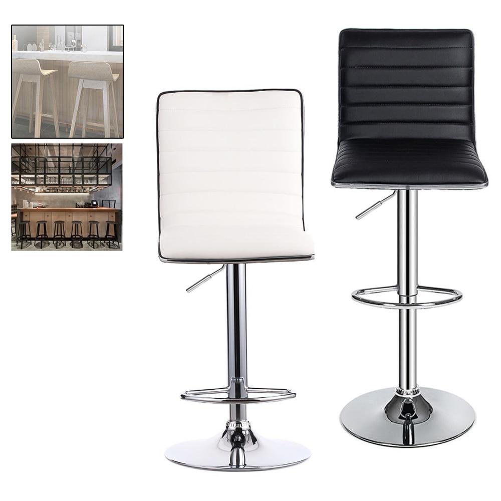 2pcs/set Height 88 109 cm Modern Bar Stools Adjustable Swivel Bar Chairs Counter Pub Chair Rotating Home Breakfast Bar stools