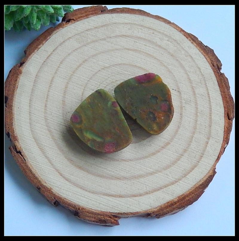 Sales 1Pairs Natural Stone Ruby Gemstone Cabochons Semi-precious stones joker DIY jewelry accessories
