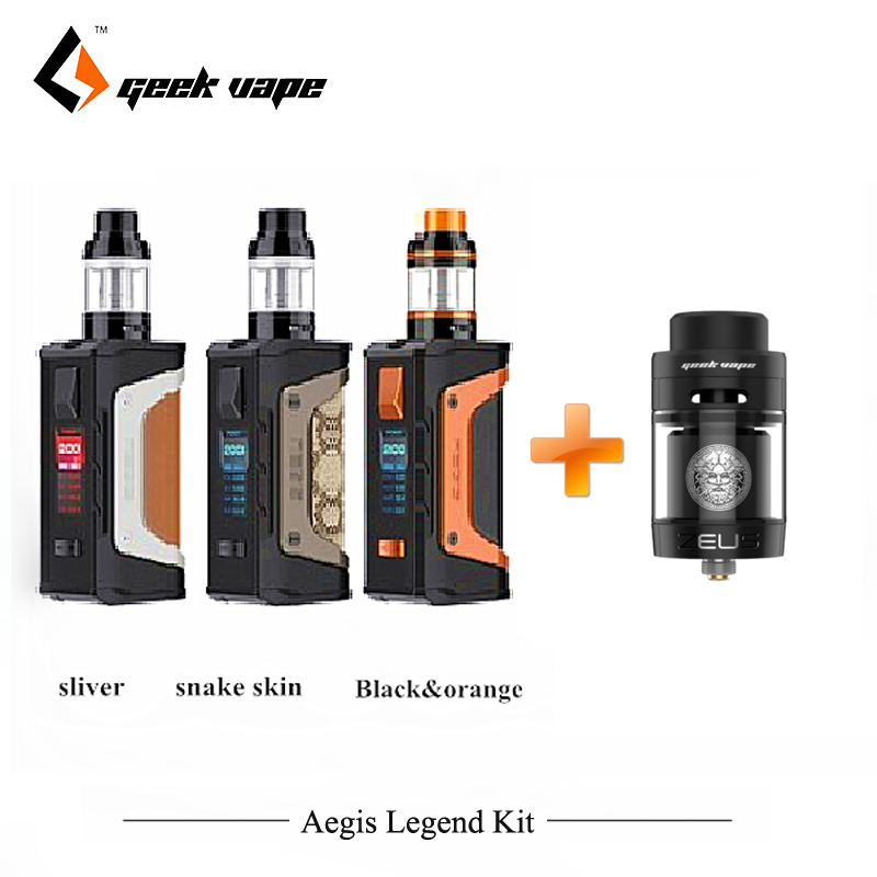 Regalo Zeus Dual RTA Geekvape Aegis leggenda 200 w Sigarette Elettroniche powered by Dual 18650 batteria Aero Maglia sub ohm Serbatoio Vaper