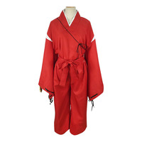Men Adult Manga Inuyasha Cosplay Anime Costume Dog like Half Demon Chinese Kimono Outfit Halloween Xmas Fancy Party Carnival