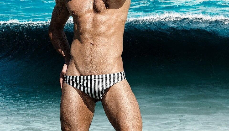 Topdudes.com - Men's Sexy Low Waist Triangle Beach Briefs