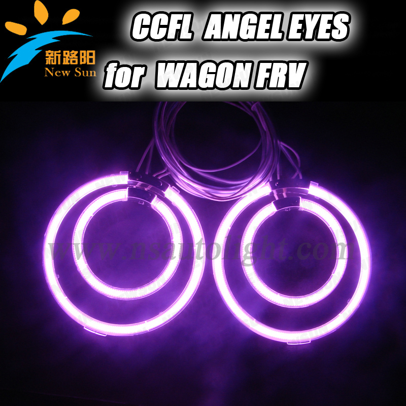 Free shipping 4rings full circle CCFL angel eye ring for Wagon FRV with red blue yellow green purple white orange colors other voices full circle cd