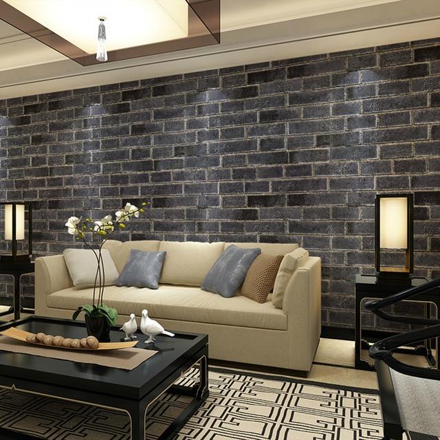 Beibehang Brick Wallpaper For Walls Realistic Dark Gray Red Papel De Parede 3D Wall