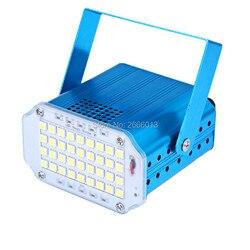 O wysokiej jasności Mini stroboskop DJ Disco światło lampy błyskowej  36 sztuk LED światło stroboskopowe  biały/RGB kolor Disco DJ klub nocny pokaż oświetlenie sceniczne w Oświetlenie sceniczne od Lampy i oświetlenie na