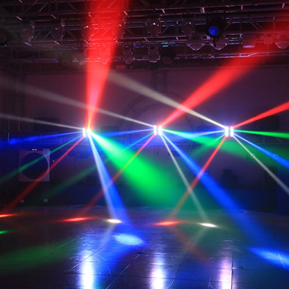 8 светодио дный качающаяся голова Паук огни сценическая лампа струнные светодио дный огни светодиодные Фея струнная лампа для наружного хэ...