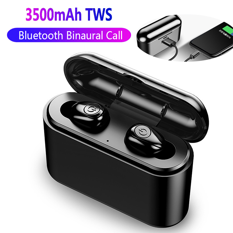 X8s Bluetooth 5.0 Earphones TWS Wireless Headphones Bass Stereo Bluetooth Earphone with 2200 mAh Charger Box Mic for All Phone