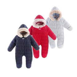 New fashion 2017 New Style new born Bodysuits cartoon cotton padded snowsuit Winter outerward coat baby wear infant clothing