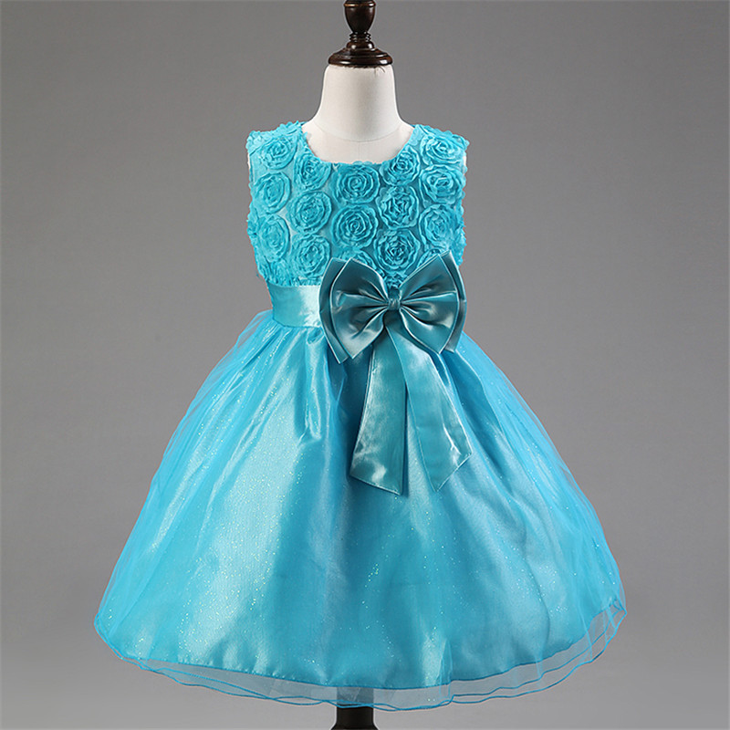 Flower Baby Dresses Girls Kids Evening Party Dresses For Girl Clothes Infant Princess Prom Dress Teenager Children Girl Clothing girls dresses long sleeve 2017 spring brand kids dress for girls clothes baby infant animal flower princess costumes children
