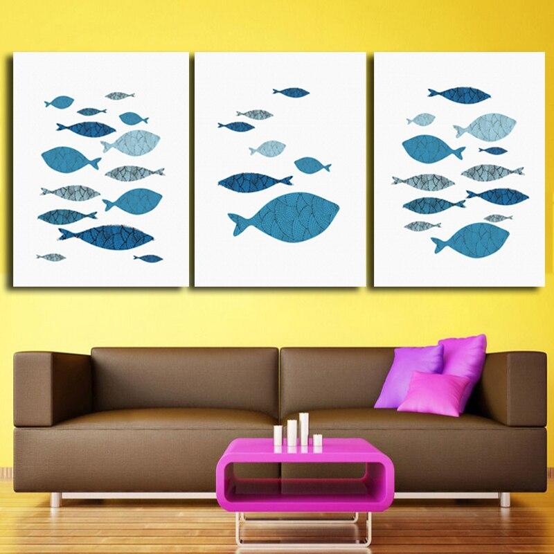 Cartoon Fish Ocean Motivational Canvas Print Painting Typography ...