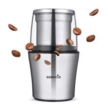Easehold moedor elétrico de café 200 w, aço inoxidável, corpo grande capacidade para sal, pimenta, moedor de grãos poderoso
