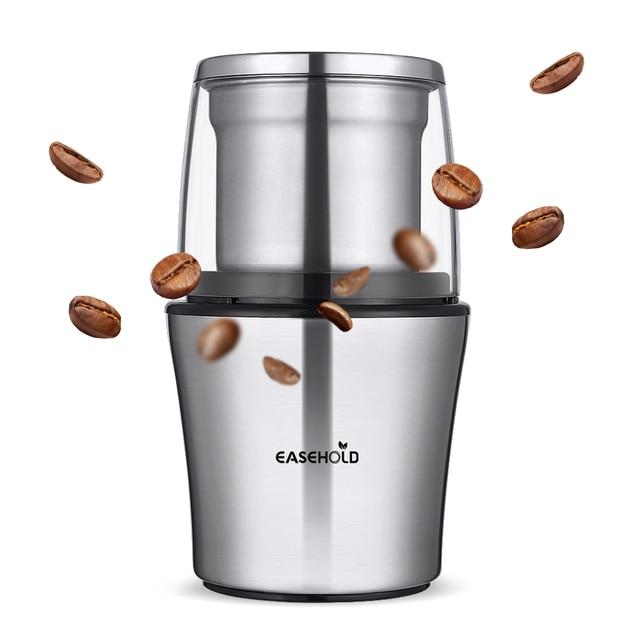 Macinacaffè elettrico Easehold 200W corpo in acciaio inossidabile grande capacità per macinacaffè sale macinacaffè potente