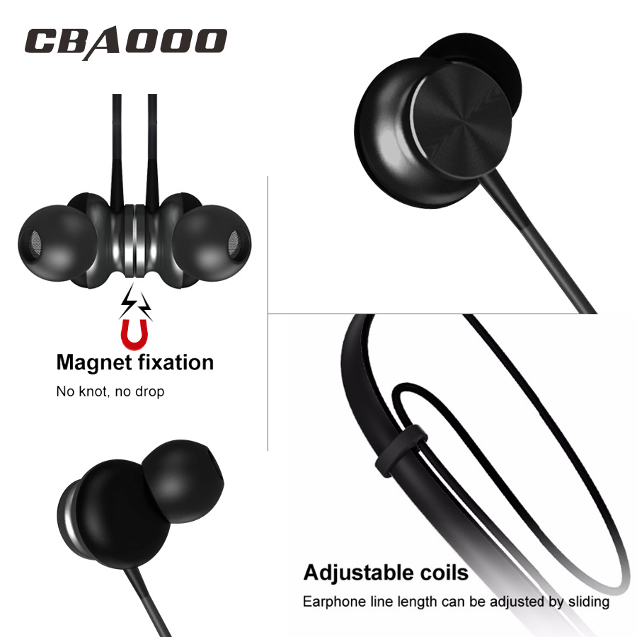 CBAOOO BH1 Wireless Bluetooth Earphones Sport Stereo Headset Handfree Blutooth earphone Earbuds With Microphone For xiaomi Phone