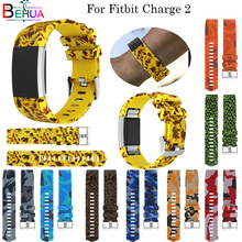 Fashion Multicolor Silicone Replacement watchband For Fitbit Charge 2 Smart watch band Bracelet Wristbands strap Size S L select