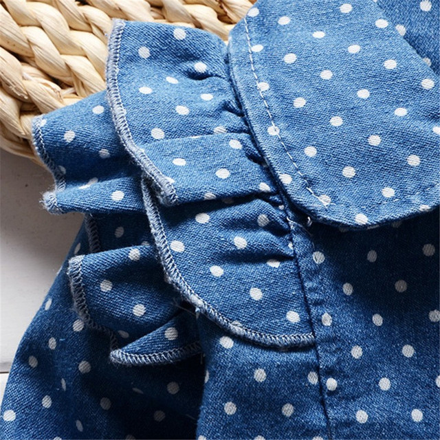 BibiCola Spring Autumn Baby Girls Coat Kids Lovely Denim Jacket Children Girl Cotton Lapel Outfits Little Girl Winter Coat