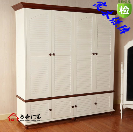 All Solid Wood White Wardrobe American Continental Village Near The  Mediterranean Four Wardrobe Furniture Designer Furniture Tel In Wardrobes  From Furniture ...