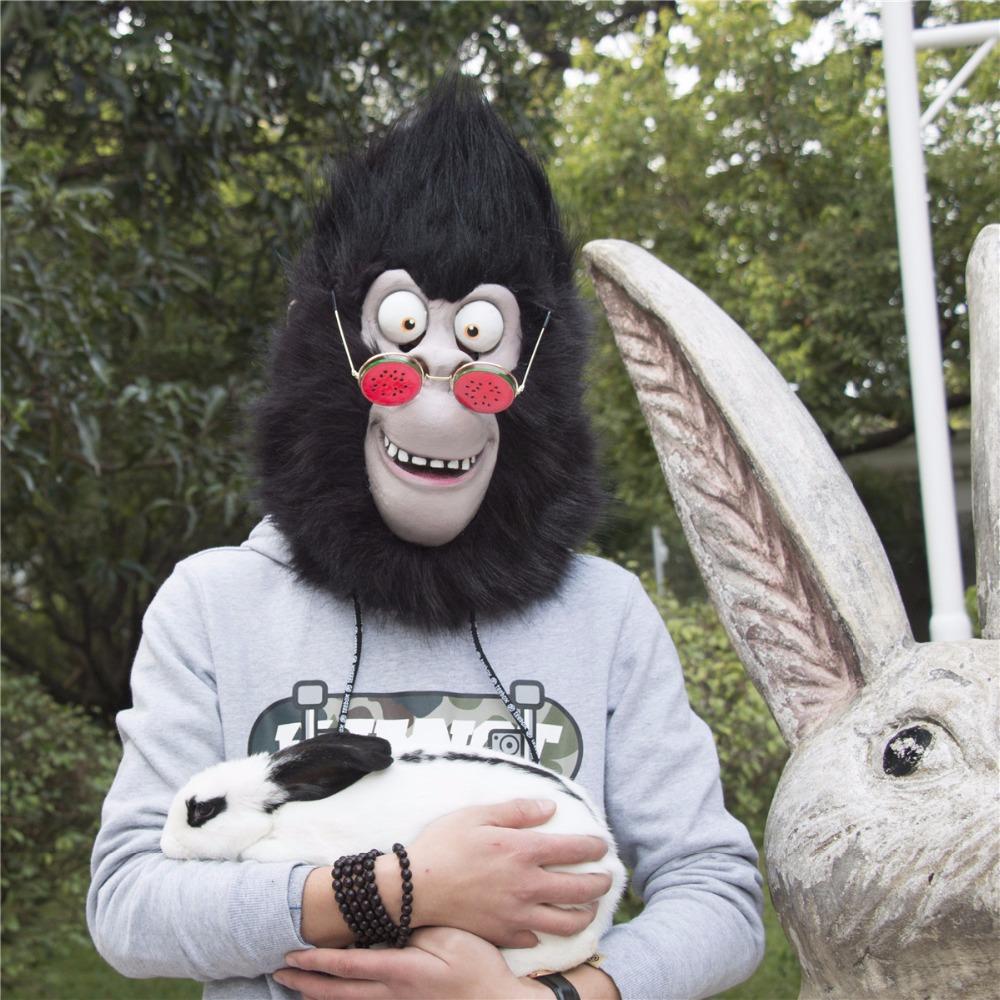 2016 Movie Sing Cosplay Gorilla Johnny Latex  Mask Gorilla Animal Mask Halloween Party (2)