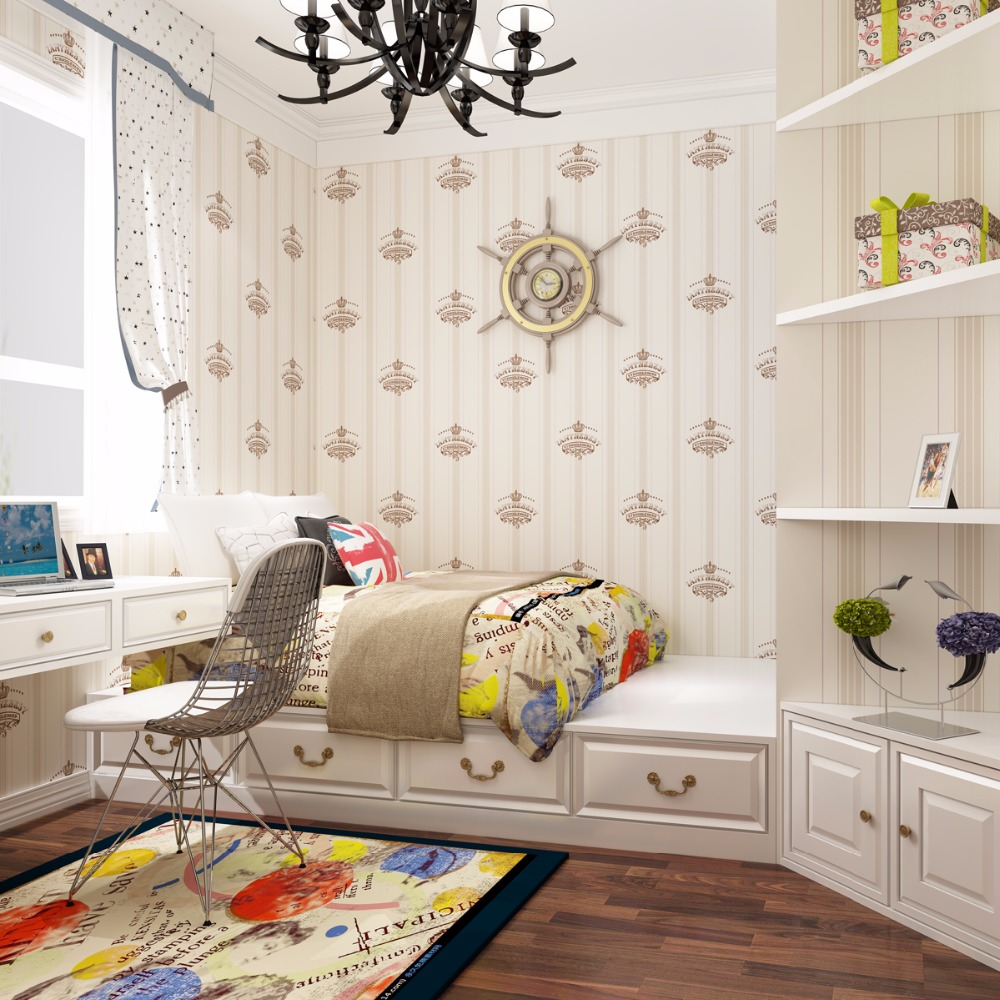 Kinderzimmer Tapete Junge Us 34 Kinderzimmer Tapete Vlies Mediterranen Stil Moderne Einfache Wandbilder Wallpaper Cartoon Jungen Kinderzimmer Tapete In Kinderzimmer Tapete
